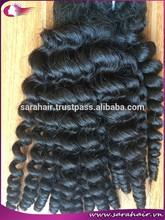 Grade 7A virgin double weft pissy curl black women hair weft short curly hair extension