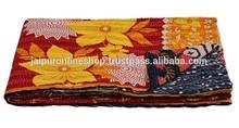 Assorted Bangali Vintage Kantha Throw Blanket from India