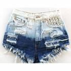Short Jeans Custom high waist Destroyed Hot Pant