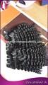 hot novos produtos virgem curto encaracolado extensão do cabelo para mulheres negras