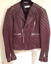 Burgundy Quilted Moto Jacket Fr