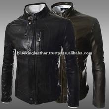 Fashion Mens Slim Fit Designed Casual Leather Biker Coat Winter