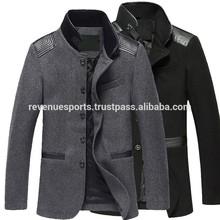 western style long wool coat