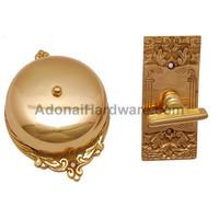 """Bartholomew"" Manual Brass Door Bell"