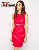 Latest shiny PVC fiesta sexy women leather dress