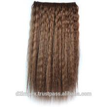 Wholesale Virgin Indian Straight Dark Brown Human Extensions Overseas Hair