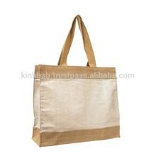 Designer Jute Canvas Tote Bag