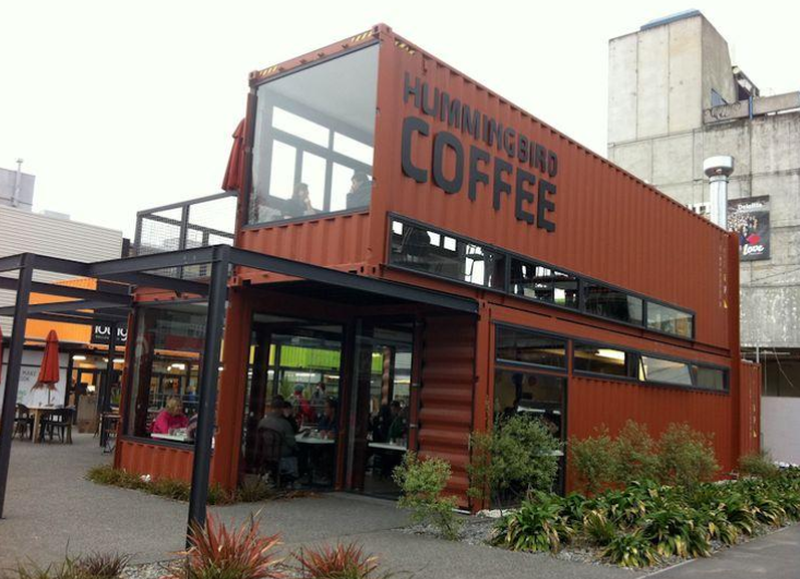 modern shipping container store cafe coffee shop pub bar business eco design building multi
