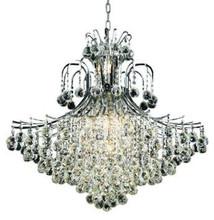 Elegant Lighting 8005G31C/RC Toureg Chrome Fifteen-Light 31-inch Chandelier with Royal Cut Clear Crystal