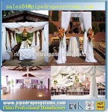 wholesale pipe drape adjustable aluminum backdrops luxury wedding tent decorations