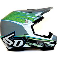 6D ATR-1 Intruder Motorcycle Helmet : X-Small : Green