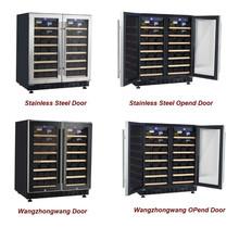 Newest! Compressor Side by Side Door Wine Chiller/ beer bottle refrigerator with digital controller SS Door Optional