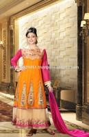 Pretty Orange Anarkali