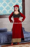 Black Velvet Yolk Designer Chudider Salwar Suit
