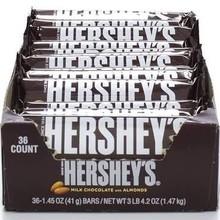 hershey barra de chocolate con almendras