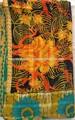 Vintage. jeter kantha couette de coton indien main couvre lit literie réversible