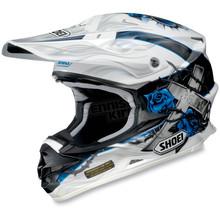 Shoei Helmets White/Black/Blue VFX-W Grant Helmet - 0145-7302-08
