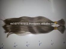 100% Grey Remy Virgin Hair completely Human Bulk Hair in Single Drawn