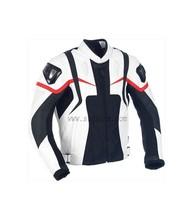 White/Black Leather Motorbike Jackets