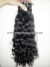 Best selling products hair style 2015 factory price 100% virgin remy Vietnam hair black wavy hair