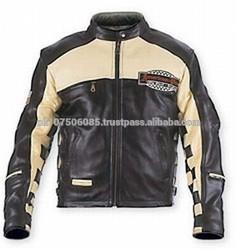 Motorbike, Motorcycle Racing Black / beach Leather Jacket
