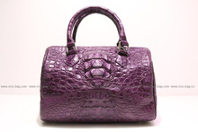 Ladies handbag, carpet bag genuine crocodile leather