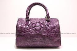 Ladies handbag, carpet bag genuine crocodile leather