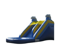 JumpOrange Commercial Grade 14' Dolphin Xtreme Wet / Dry Inflatable Water Slide