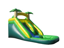 JumpOrange Commercial Grade 14' Tropical Xtreme Wet / Dry Inflatable Water Slide