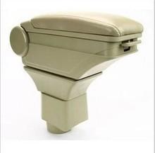 Genuine leather car arm rest Box console box case for Mitsubishi V3