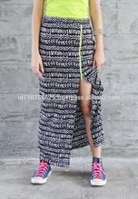 Side Zip Maxi Skirt
