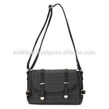 Woven Design Messenger Faux Leather Lady Bag