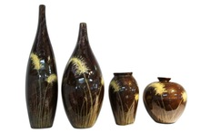 Set of 4 lacquer vase 100% recycle paper different designs use for decoration made in Vietnam lacquer vase
