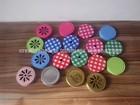 gingham pattern mason jar Lids