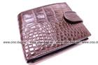 Crocodile wallet for men, belly of alligator with half-belt