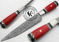 "12.50"" Custom Manufactured Beautiful Damascus Steel Chef Kitchen Knife (757-9)"