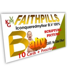 Christian Gift for Babies easy to carry prescription FAITHPIILL Healing Cards