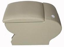 Genuine leather car arm rest Box console box (beige/black colour) case for Honda CITY