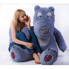 Giant 59'' Stuffed Grey Teddy Bear Toy