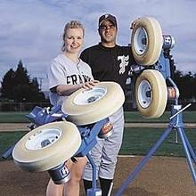 Jugs Sports Combination Baseball/Softball Pitching Machine 220V