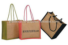 Round cane jute bags used as shopping bag