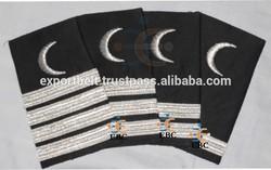 Merchant Navy Epaulettes | Yachting uniform Epaule | Epaulettes 1, 2, 3, 4 bar gold / silver metallic stripes | cruise epaulette