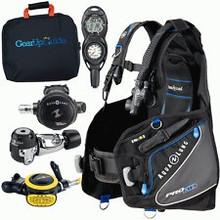 Aqua Lung 9 LB Travel Scuba Gear Package Zuma BCD Dive Computer Regulator Set
