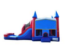 JumpOrange Commercial Grade 13'X30' Patriot Mega Wet/Dry Inflatable Bouncy House and Slide Combo