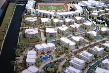 Architectural urban design model, architectural residential building model