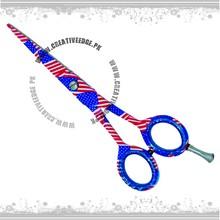 USA Flag Paper Coating Hairdressing Scissors