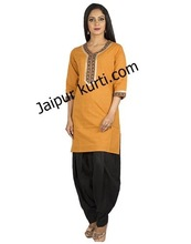 wholesale Cotton kurti apparel, Three Quarter Sleeves Kurti apparel, wholesale designer kurti