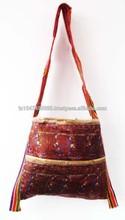 2015 chegada nova artesanal indiana kantha& fashion designer sacos de mão sacos étnica