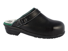 Safety Clogs / Shoes for kitchen and hospital, black with steel toe cap