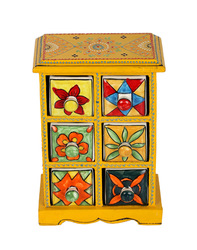 Wooden Cabinet With Drawers, Beautiful Indian Wood Shelfs, Vintage Wood Drawer Cabinet